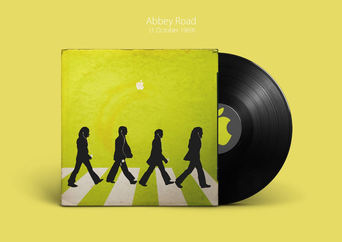 Classic Beatles Album Covers Recreated by Apple